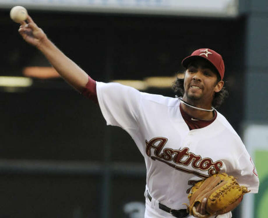 April 16: Astros 5, Padres 3  Starter Nelson Figueroa had his best outing of the season, giving up three runs (two earned) in 6 2/3 innings. Photo: Pat Sullivan, AP