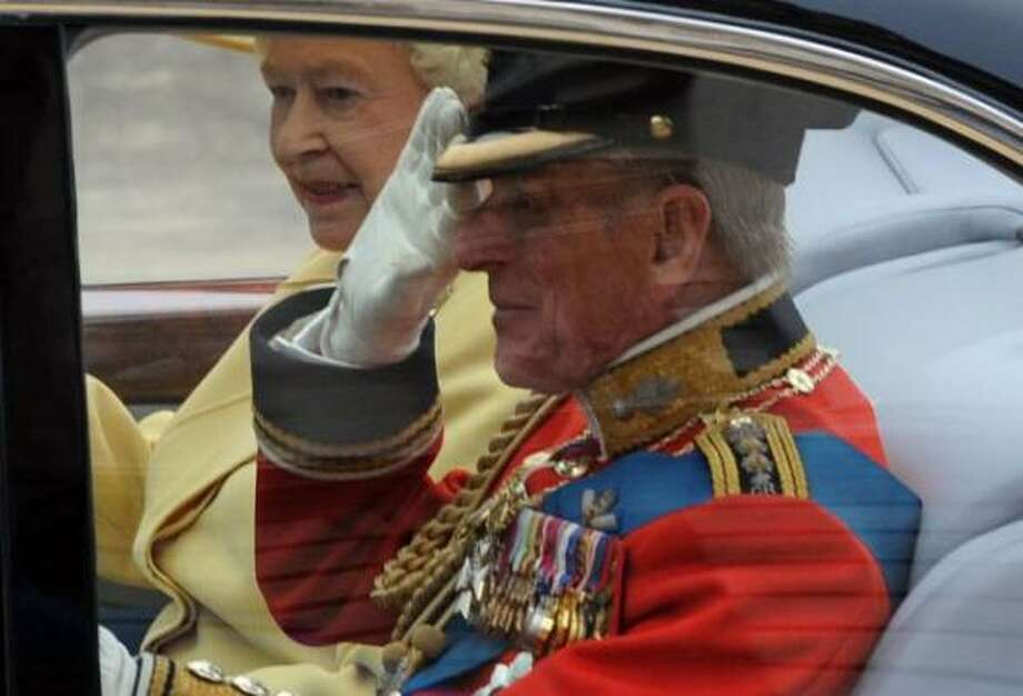 Britain's Queen Elizabeth II and Prince Philip, The Duke of Edinburgh travel to Westminster Abbey.