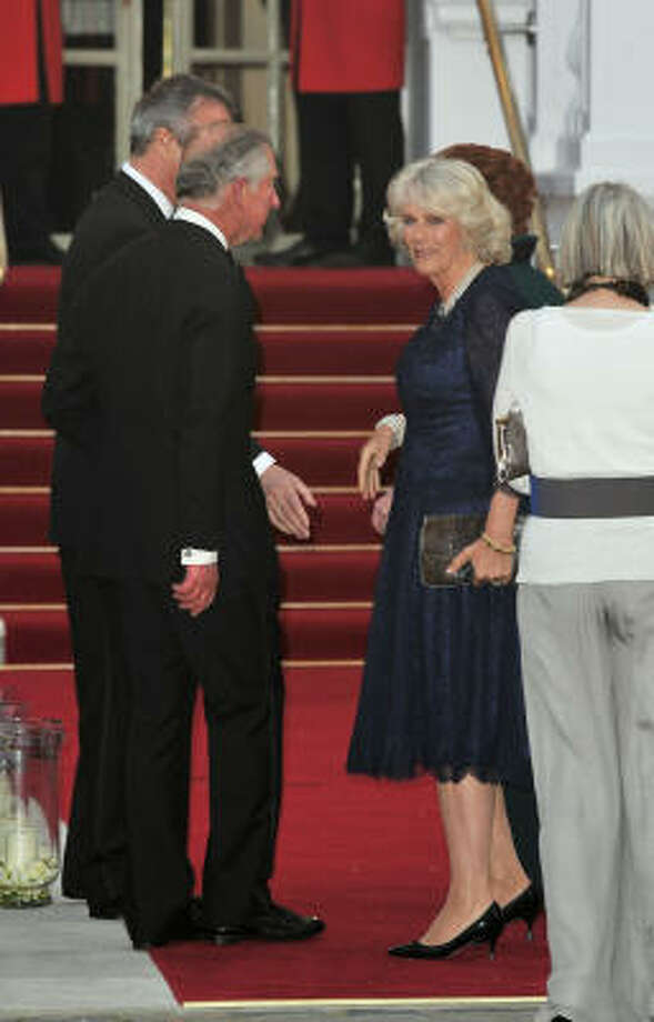 Prince Charles and his wife, Camilla, attends a pre-wedding gala in London. Photo: Pascal Le Segretain, Getty Images