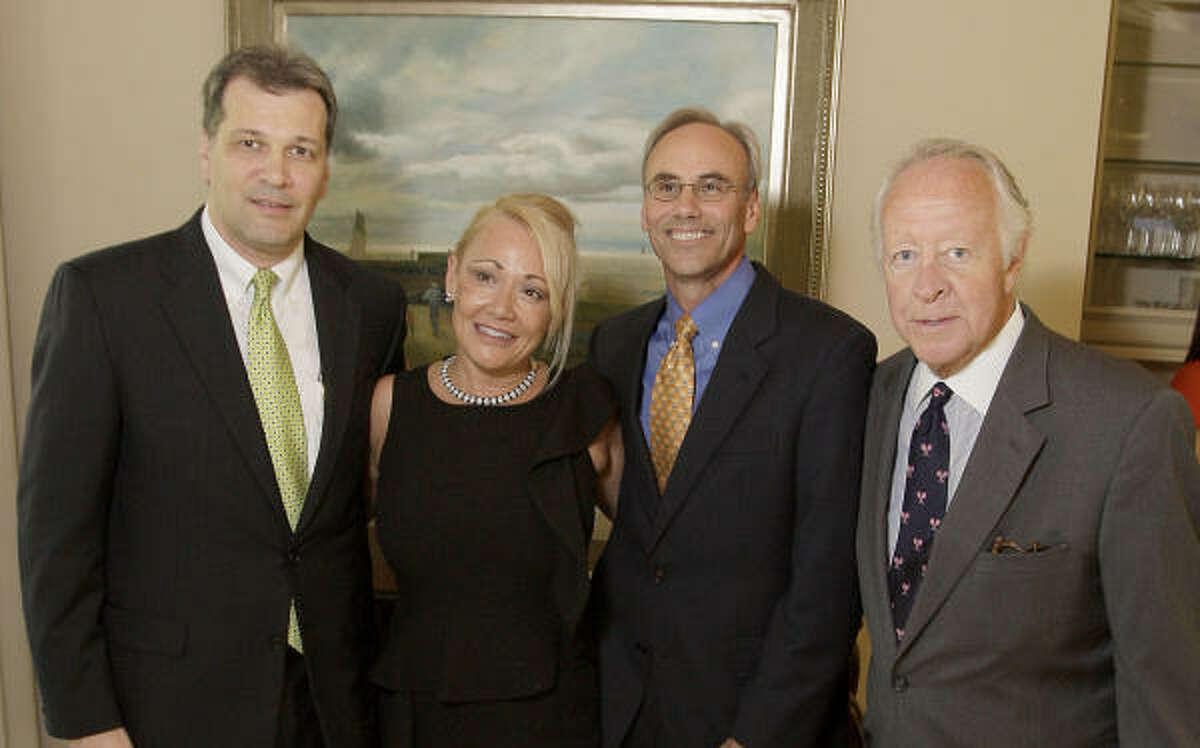 Bill Hickl, Laura True, Mike Forshey and Judge Michael McSpadden