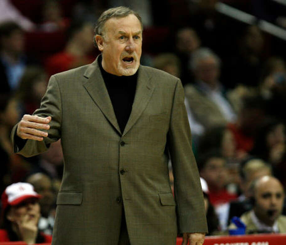 May 2, 2008 Adelman's first season ends after the Rockets are eliminated by the Jazz in six games in the first round of the Western Conference playoffs. The Rockets go 55-27 in Adelman's first season at the helm, the third-best season win total in franchise history. Photo: Johnny Hanson,  Chronicle