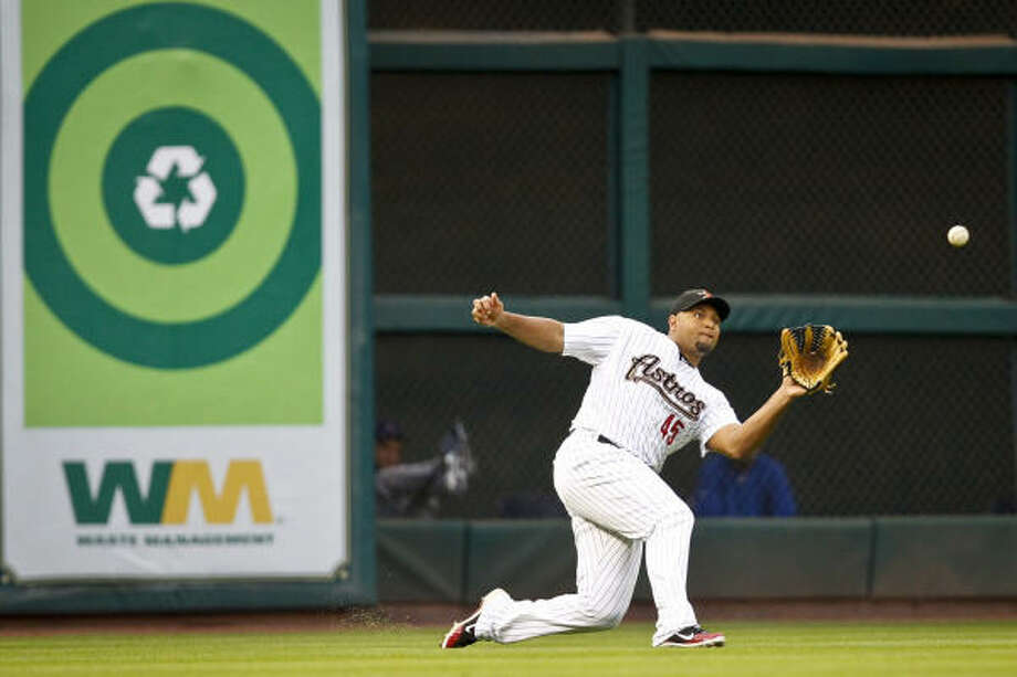 2. We had the wrong tools on Carlos Lee all along. Who cares if he's hitting .234/.269/.375? He leads the league in triples and outfield assists. Photo: Michael Paulsen, Chronicle