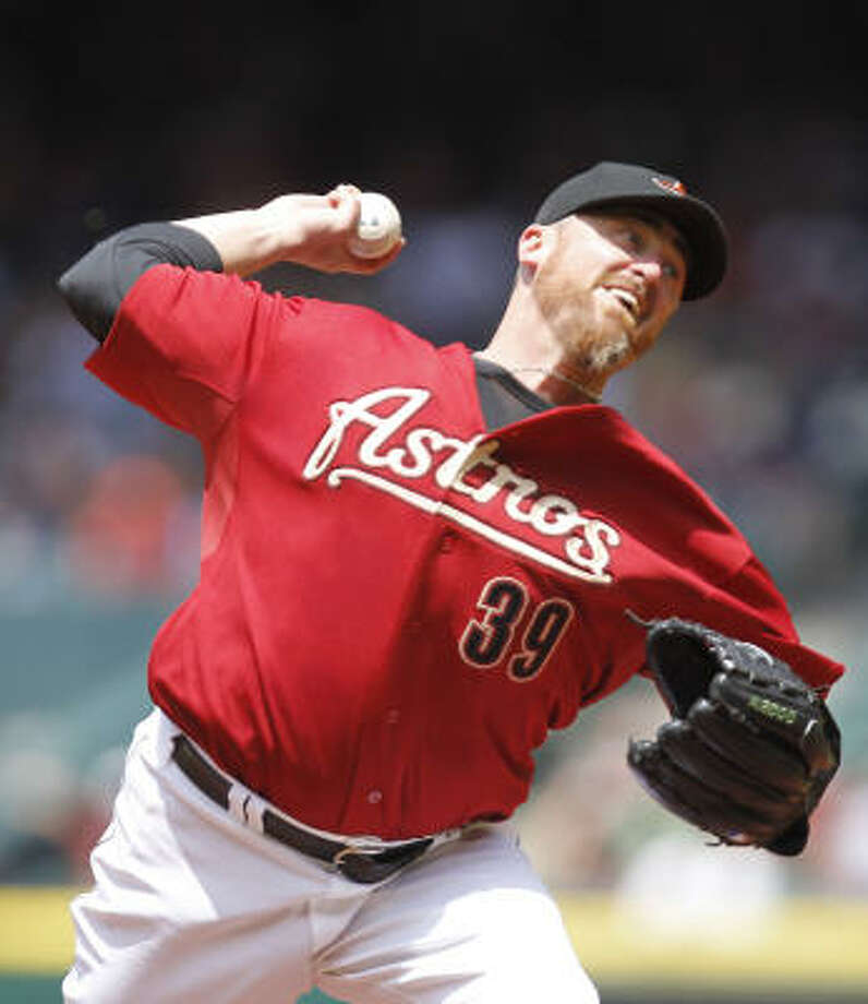 3. Brett Myers' 2010 was no fluke.The No. 1 starter has begun 2011 just as he began (and continued and pretty much ended) 2010: with long and effective days and nights. Myers has an ERA of 2.39 and now has 36 starts in 37 of six innings or more since signing in January 2010. Photo: Cody Duty, Chronicle
