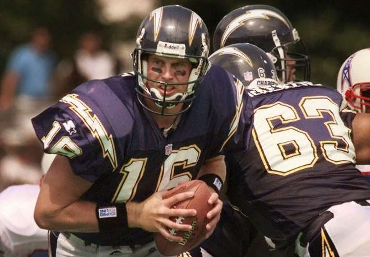 1998, Ryan Leaf, San Diego (2) A lot of scouts had him rated ahead of Peyton Manning. Leaf had 14 TD passes and 36 INTs in three seasons with the Chargers.