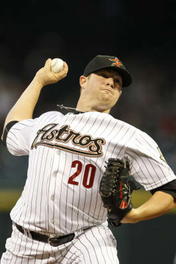 Astros starter Bud Norris delivers a pitch during the second inning. Photo: Michael Paulsen, Chronicle