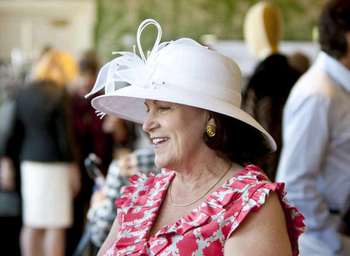 Iris McWilliams wears a hat she bought at last years' Chic Boutique event.
