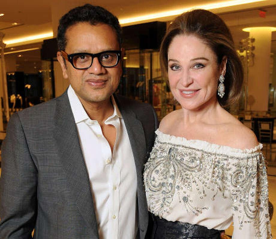 Designer Naeem Khan and Becca Cason-Thrash Photo: Dave Rossman, For The Chronicle