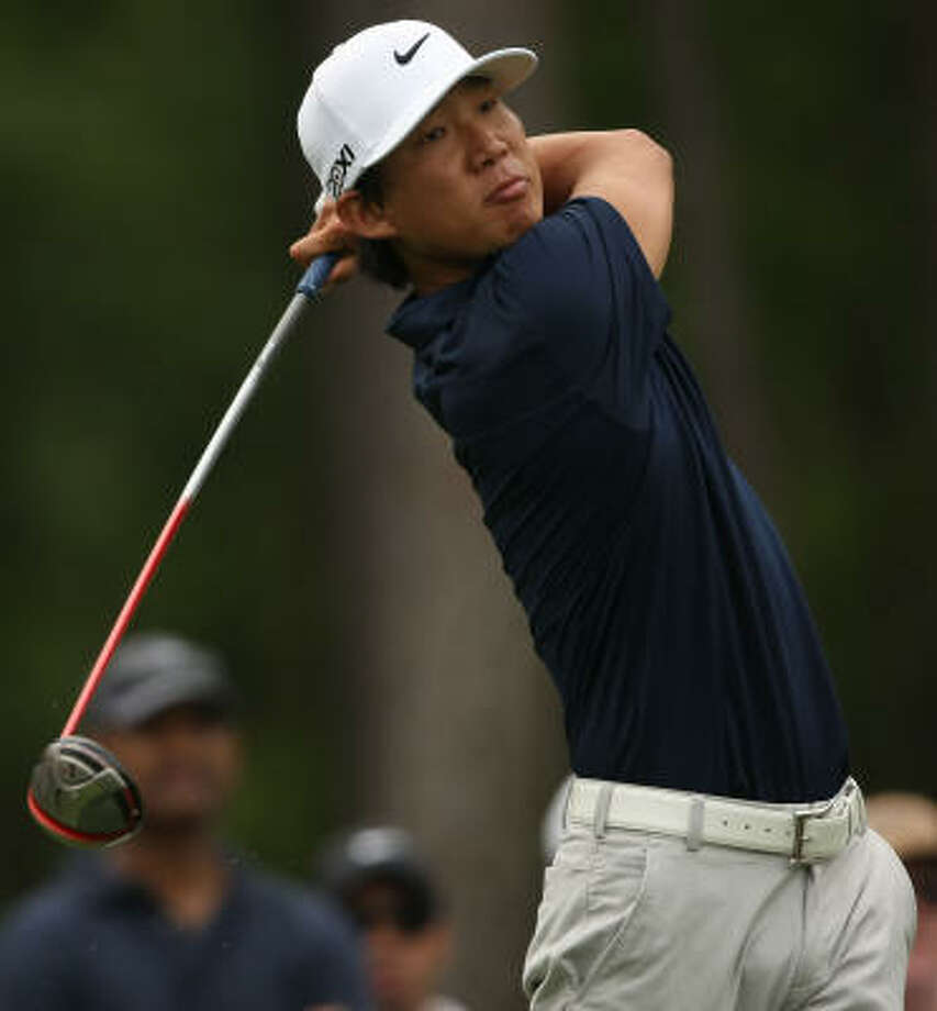 Anthony Kim follows through on his tee shot on No. 6 during the third round. Photo: ERIC CHRISTIAN SMITH, FREELANCE