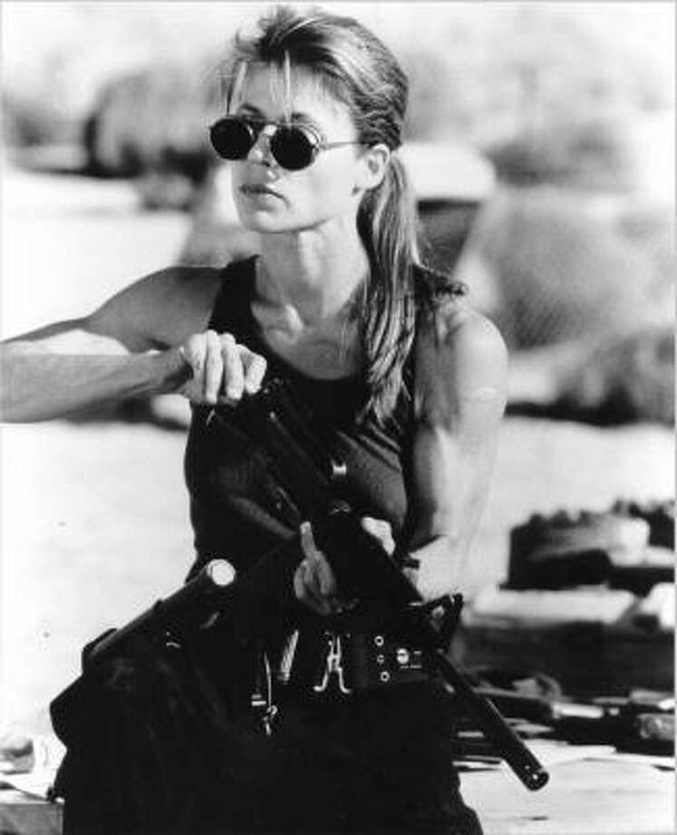 "After the first ""Terminator,"" Sarah Connor, played by Linda Hamilton, buffed up to prepare for the rise of the machines. Photo: AP"