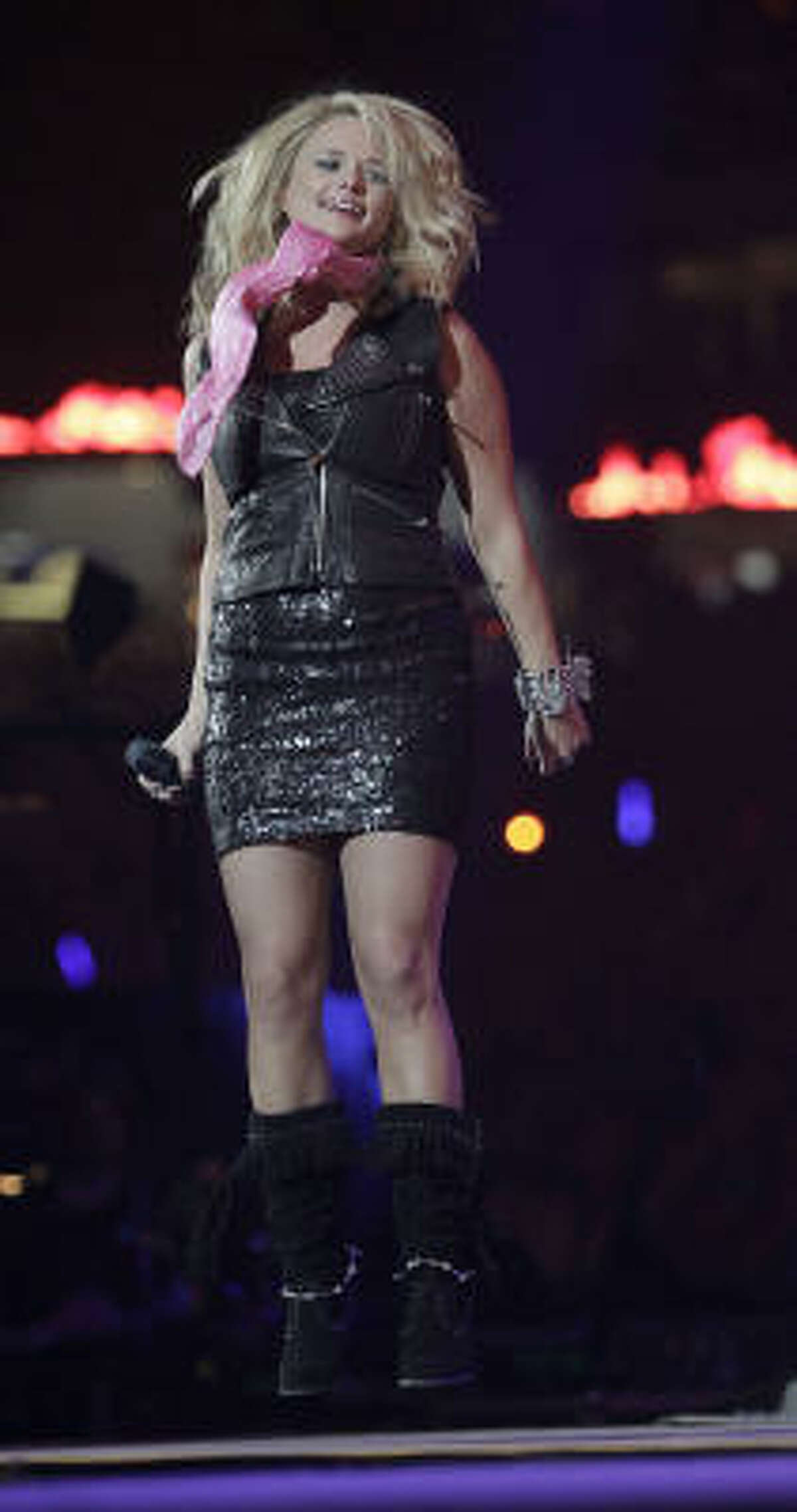 Miranda Lambert performs at the Houston Livestock Show and Rodeo, Wednesday, March 16, 2011, in Houston.