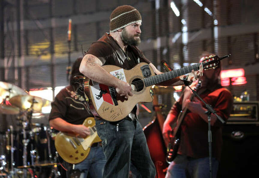 Zac Brown of the Zac Brown Band performs at the Houston Livestock Show and Rodeo, Thursday, March 17