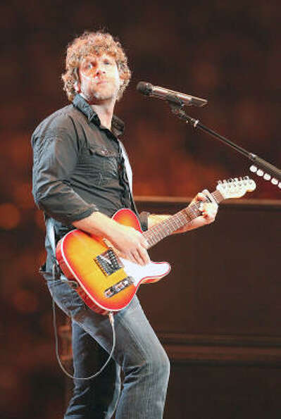 Billy Currington performs in concert during the Houston Livestock Show and Rodeo at Reliant Stadium