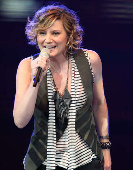 Sugarland's Jennifer Nettles during the band's performance at the Houston Livestock Show and Rodeo a