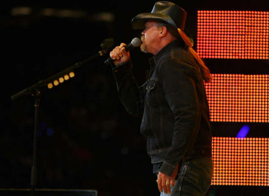 Trace Adkins delivers a performance at the Houston Livestock Show and Rodeo Wednesday, March 2, 2011, in Houston. Photo: Cody Duty, Houston Chronicle