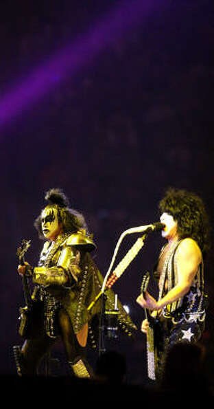Gene Simmons and Kiss perform at the Houston Livestock Show and Rodeo, Tuesday, March 15, 2011, in H