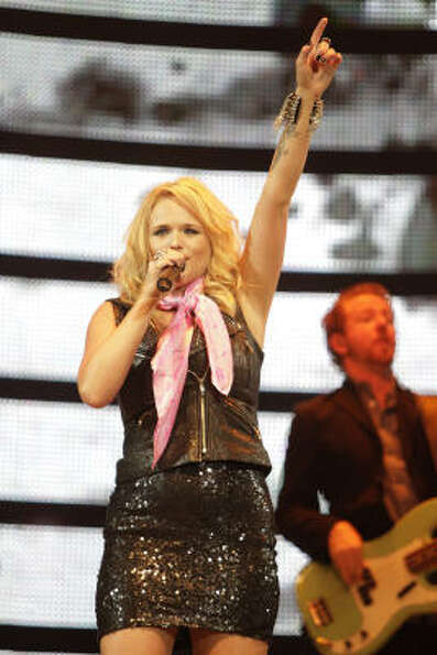 Miranda Lambert performs at the Houston Livestock Show and Rodeo, Wednesday, March 16, 2011, in Hous