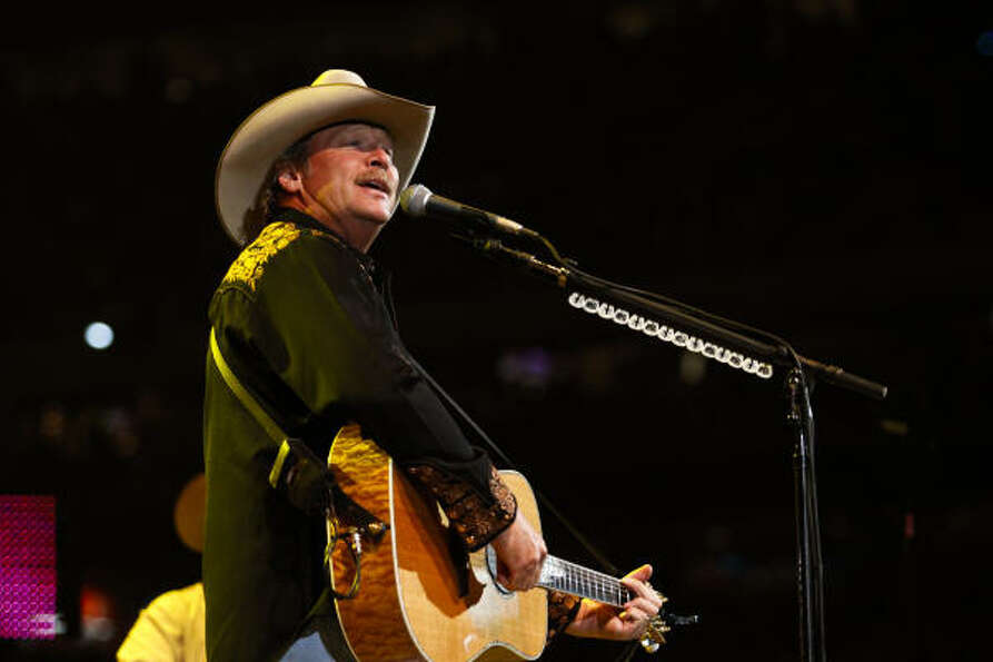Country singer Alan Jackson plays at Rodeo Houston March 18, 2011 in Houston at Reliant Stadium.