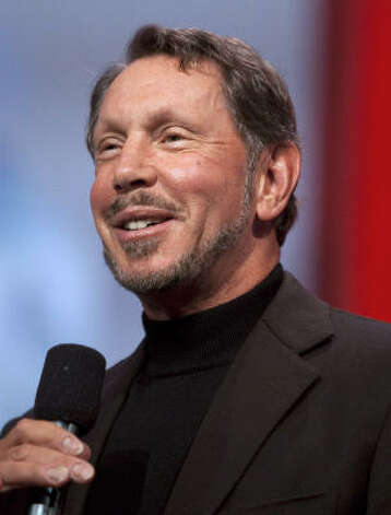 No. 3 Larry Ellison is worth an estimated $41 billion, according to Forbes.  Photo: Kim White, Bloomberg
