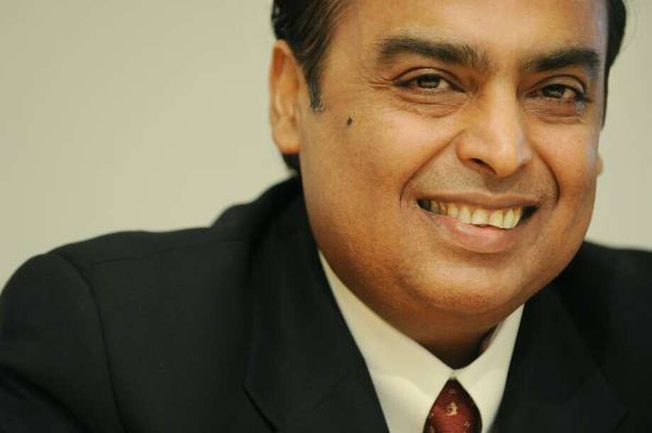 Mukesh Ambani, Chairman & MD of Reliance Industries: Estimated net worth — 24.2 billion Photo: BEN STANSALL, AFP/Getty Images