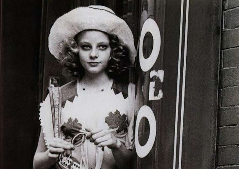 Jodie Foster, 1976, age 14.  Napoleon and Samantha; Tom Sawyer; Taxi Driver. Photo: Getty