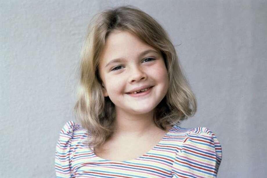 Drew Barrymore, 1982, age 7.  E.T.: The Extra-Terrestrial; Firestarter; Cat's Eye. Photo: AP