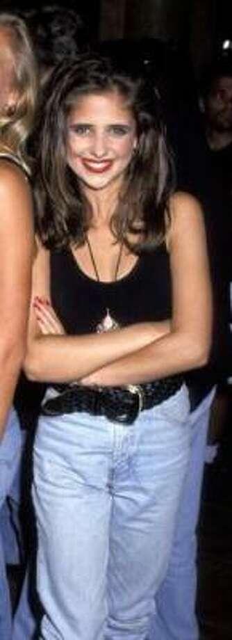Sarah Michelle Gellar, 1992, age 15.  High Stakes; Swans Crossing; All My Children. Photo: AP