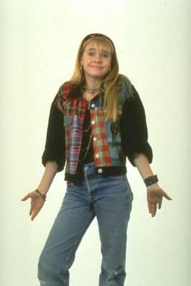 Melissa Joan Hart, 1991, age 15.  Clarissa Explains It All; Sabrina the Teenage Witch. Photo: Nickelodeon
