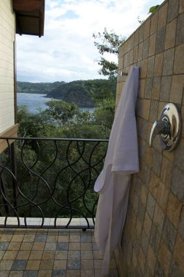 The outdoor showers at the Four Seasons Costa Rica villas have the best view in Guanacaste. Photo: Melissa Ward Aguilar, Staff