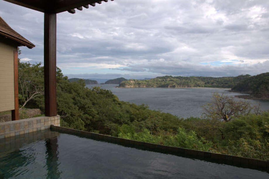 The villas at Four Seasons Costa Rica in Guanacaste have lap pools with incredible views. Photo: Melissa Ward Aguilar, Staff