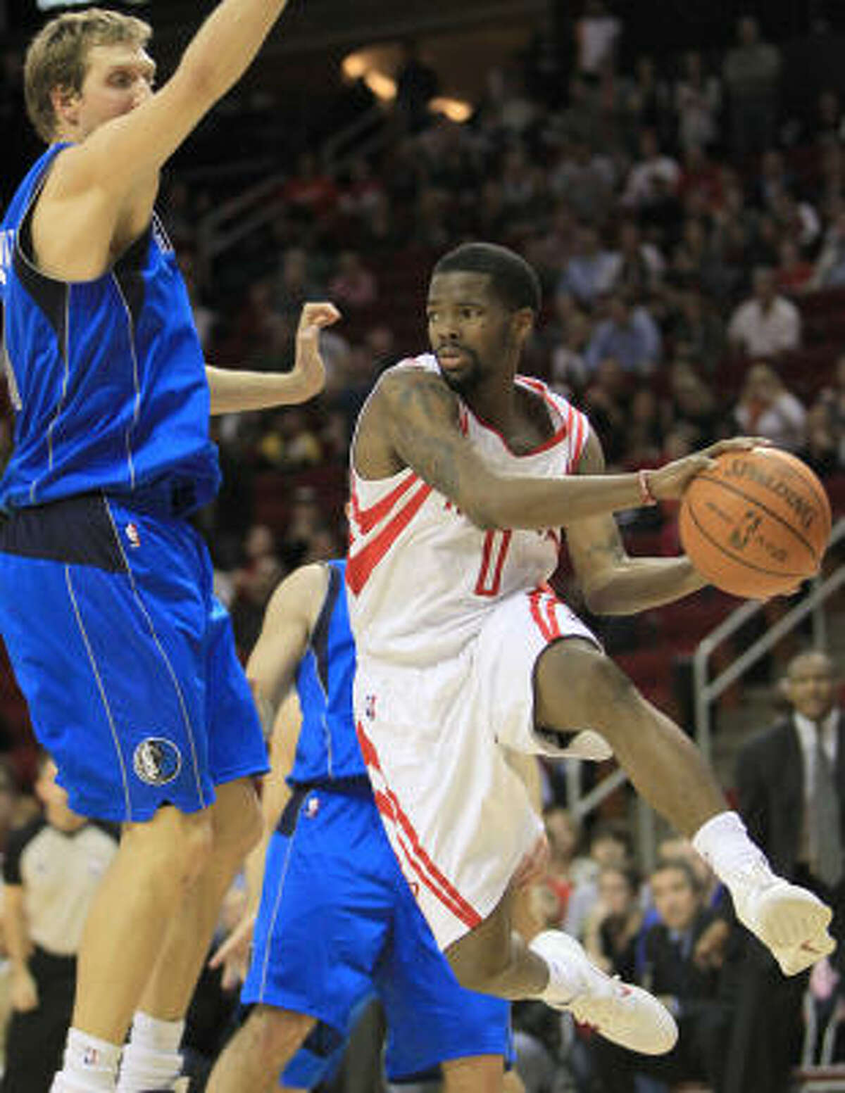 Rockets trade G Aaron Brooks to Suns Brooks, right, was sent to the Suns in exchange for point guard Goran Dragic and a first-round pick that won't come into play until at least 2013.