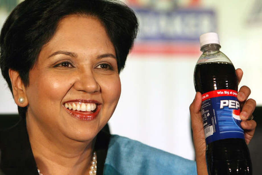 PepsiPepsi CEO Indra Nooyi pledged to make the company healthier and more environmentally friendly. She remains ambitiously motivated by her Hindu faith and isn't afraid to show it, wearing saris to board meetings and displaying Ganesh in her office. Photo: MANISH SWARUP, AP
