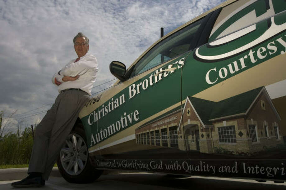 """Christian Brothers AutomotiveLike its name suggests, this car repair franchise – headquartered in Houston – follows Christian principles to """"glorify God by providing ethical and excellent  automotive repair service for our customers."""" Photo: James Nielsen, Houston Chronicle"""