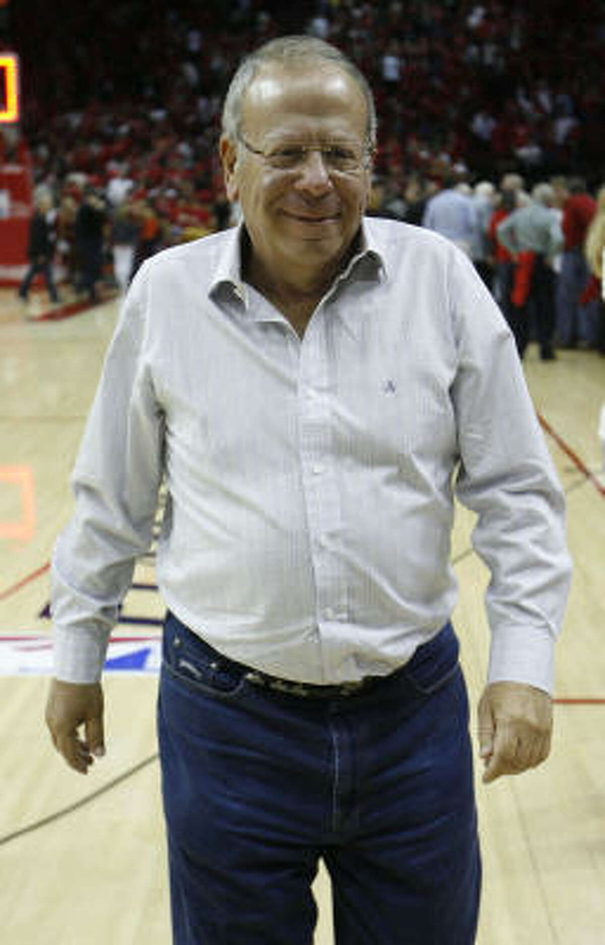 Rockets owner Leslie Alexander is looking to add to his plate by buying the Dynamo. (Brett Coomer / Chronicle)
