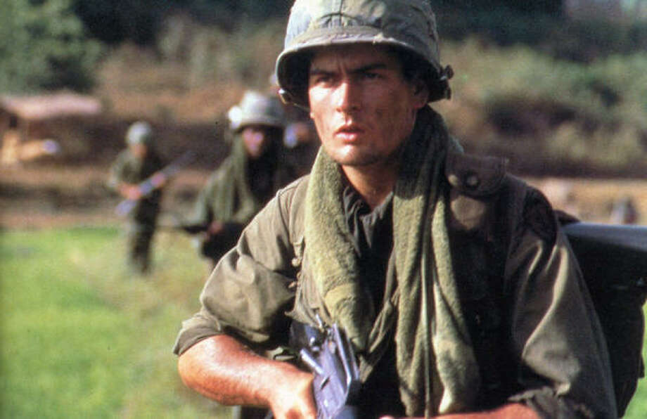 Many people consider Charlie Sheen's performance, as a young recruit in Vietnam during the war, in Platoon as one of his finest. Photo: Handout