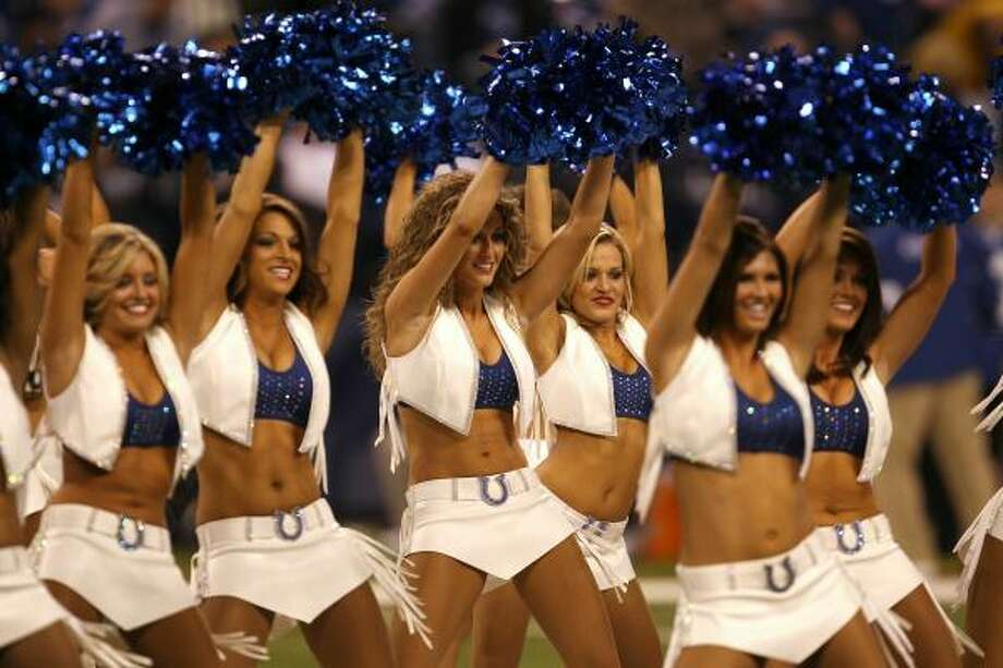 Cheerleaders for the Indianapolis Colts perform against the New York Jets. Photo: Jonathan Daniel, Getty Images