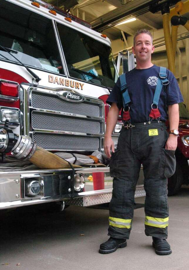 Lt Chip Daly, of Danbury Fire Department photographed Wednesday, Sept. 30, 2009. Photo: Chris Ware / The News-Times