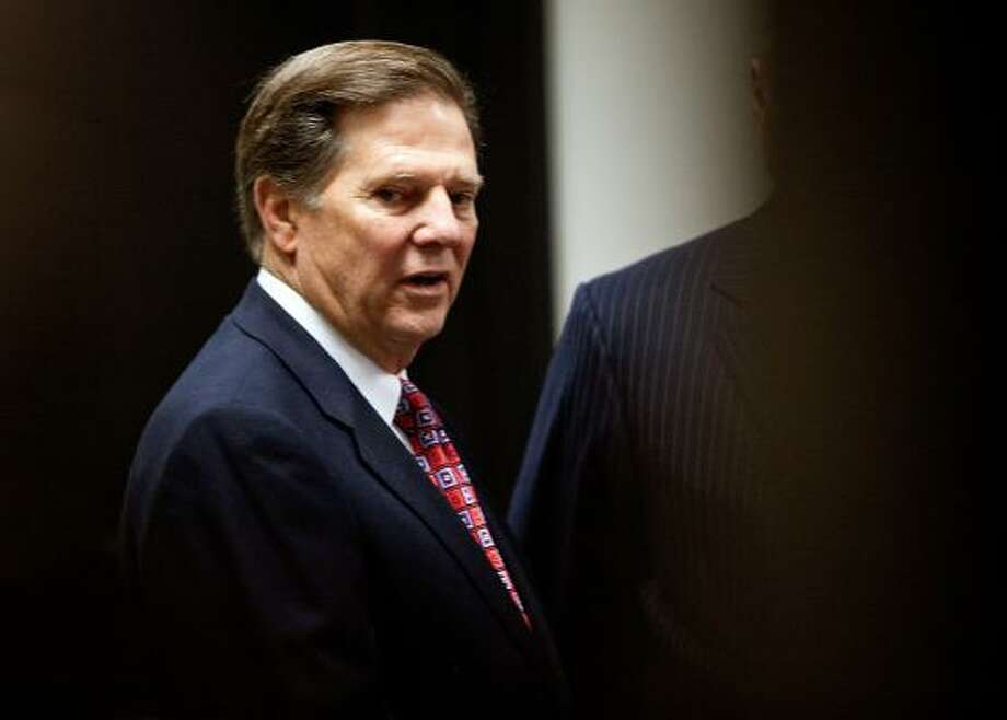 Former House Majority Leader Tom DeLay arrives in the 250th district court of Judge Pat Priest at the Travis County Courthouse for his sentencing. Jan. 10, 2011. Photo: Ben Sklar, Getty Images