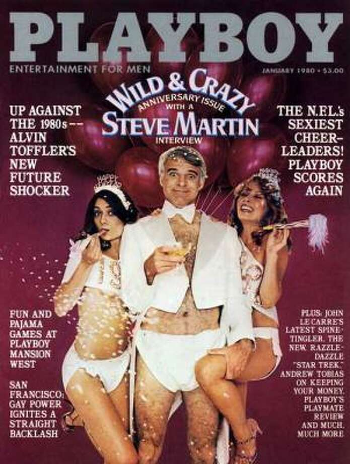 Steve Martin and his hairy chest were front and center of Playboy's January 1980 cover.