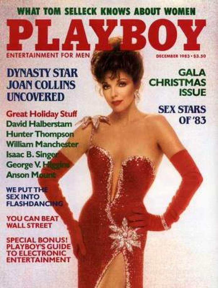 "Joan Collins, star of ""Dynasty"" strikes a pose. December 1983."