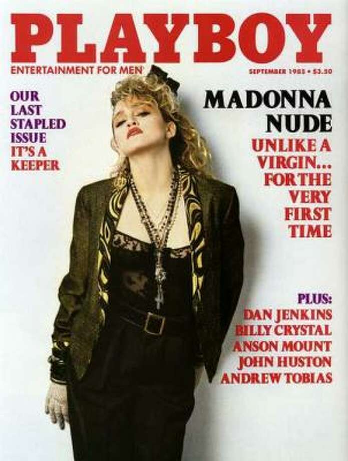 Madonna graced the cover of Playboy in September 1985.  She caused quite a stir earlier that year for nude photos she had taken in 1978.