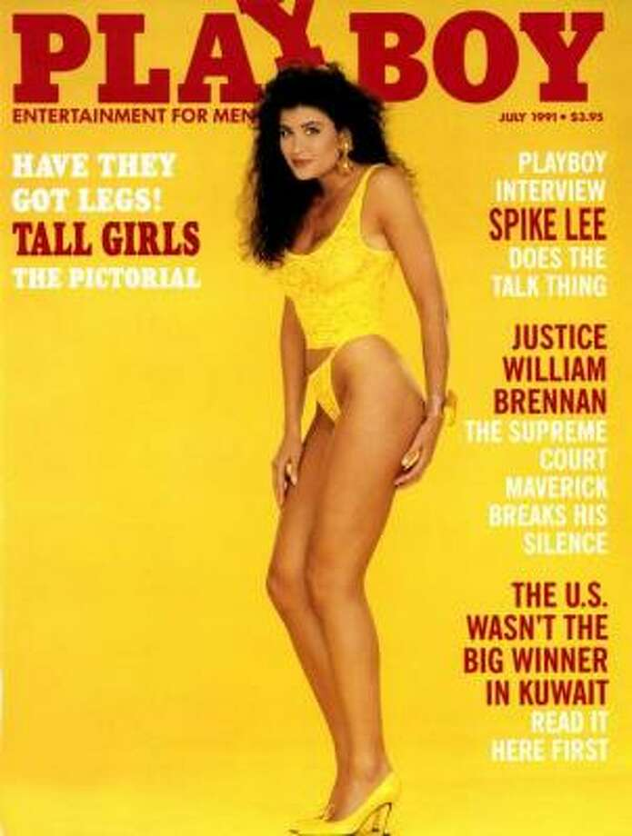 Playmate Samantha Dorman poses for an issue celebrating tall girls. July 1991.