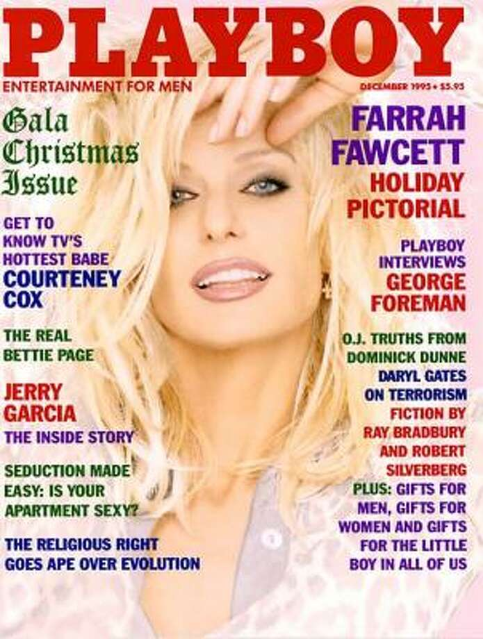 Farrah Fawcett on the Gala Christmas issue, at 48 years old ... just, wow. December 1995.