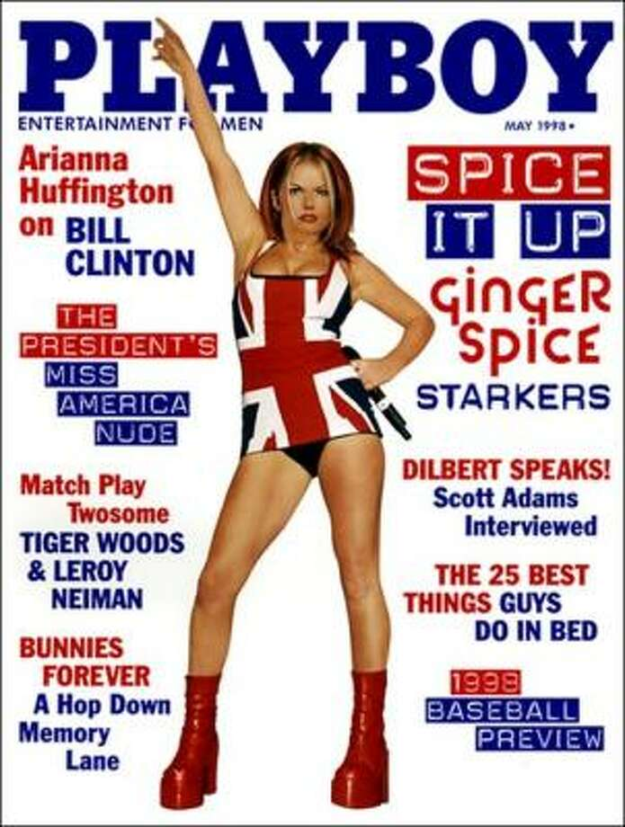 Right after she split from the Spice Girls, Gerri Halliwell took her platform boots and UK pride to the cover of Playboy. May 1998