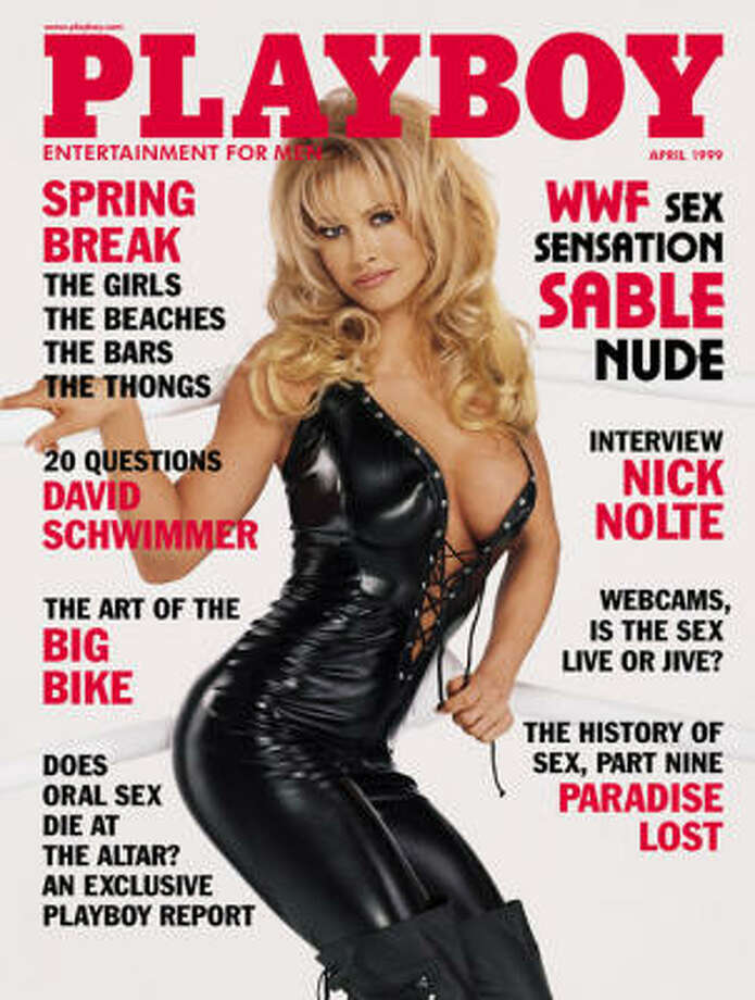WWE wrestler Sable stepped out of the ring and onto the cover of the April 1999 issue.