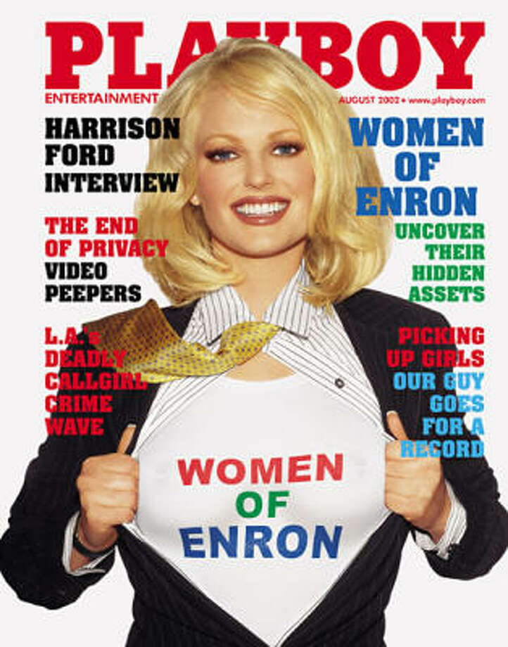 Christine Nielsen poses in for the Women of Enron spread along with several of her former female co-workers almost a year after the October 2001 scandal. August 2002.