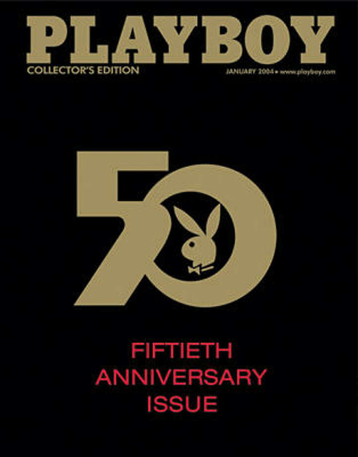 Playboy elected for a  simple, clean cover for its 50th Anniversary issue, January 2004. Let's be honest, most people will skip over this photo and not read this caption ...
