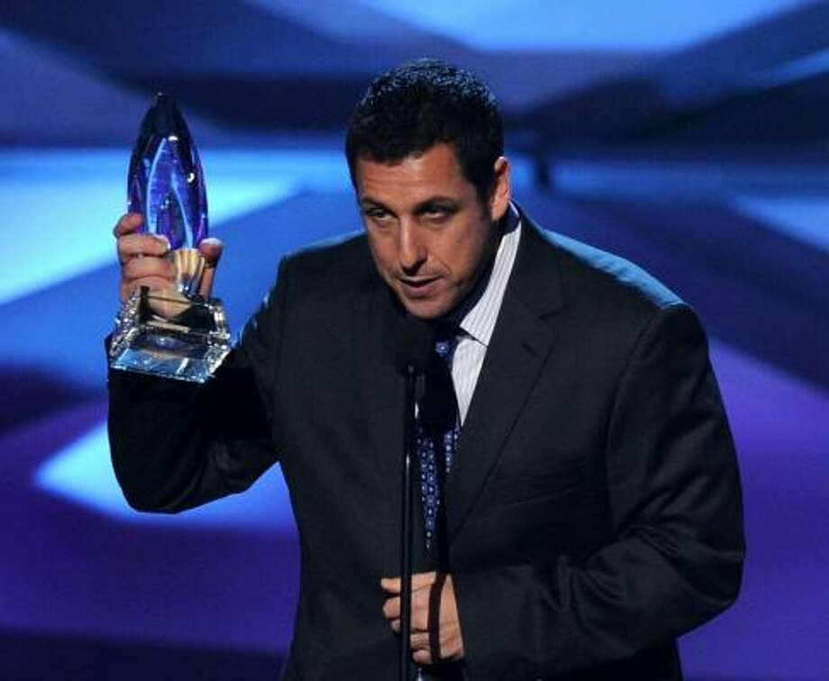 Note to Adam Sandler: it's black tie not black eye. Photo: Kevin Winter, Getty Images