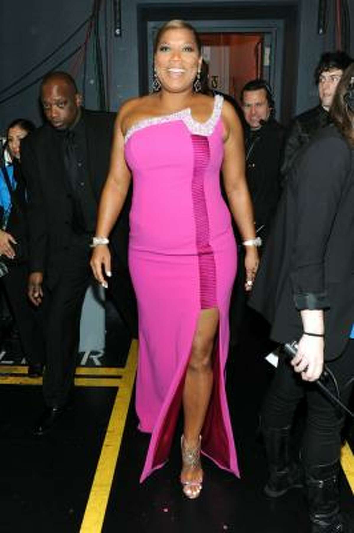 Queen Latifah's second bad choice of the evening.