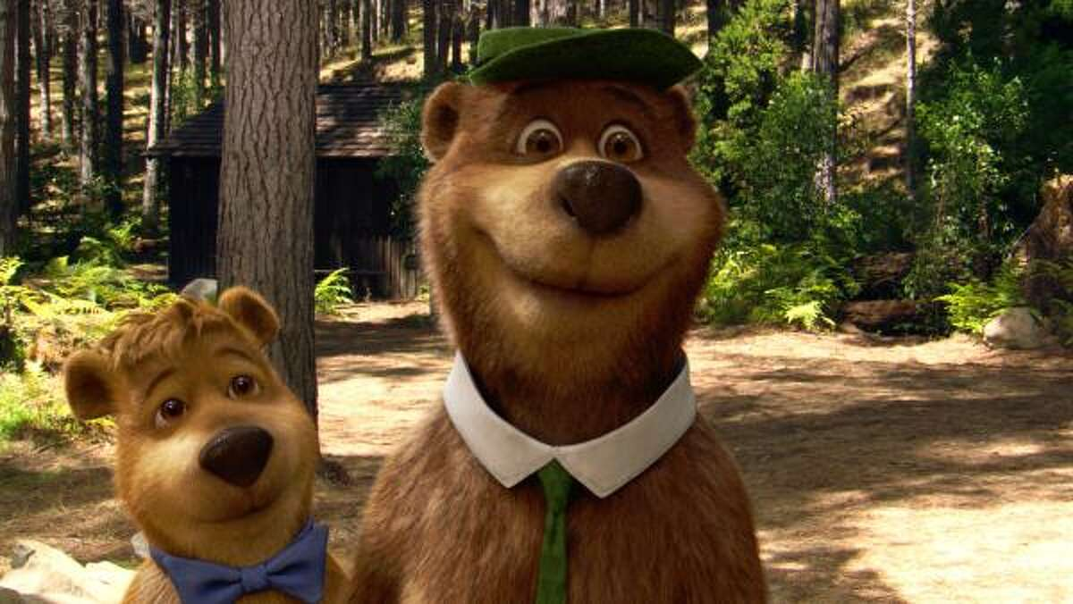 Yogi Bear , $13 million: Yogi (voiced by Dan Aykroyd) and Boo Boo (Justin Timberlake) must save Jellystone Park.