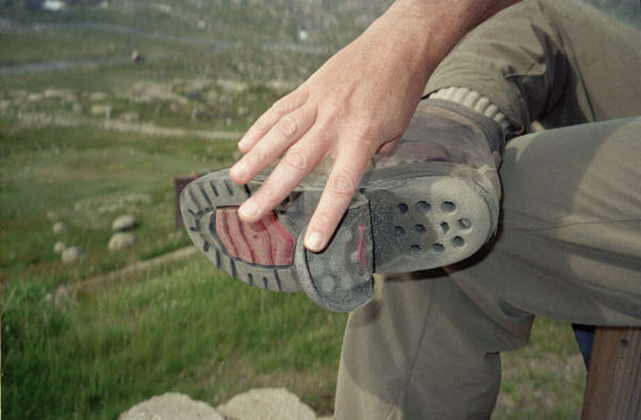 The rocky terrain is hard on both hikers and boots. Photo: Carolyn Grodinsky